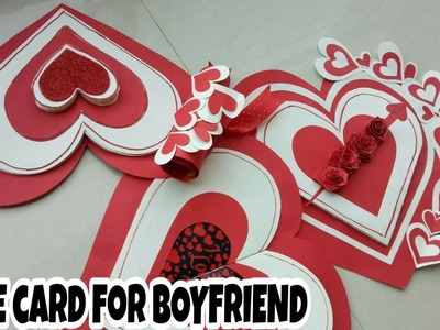 DIY Valentine's Day White & RED card||Valentine's Day special ||Couple Mr.&Mrs. Sharma . .