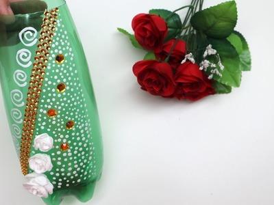 Easy Flower Vase from Plastic Bottle Art and Craft Ideas