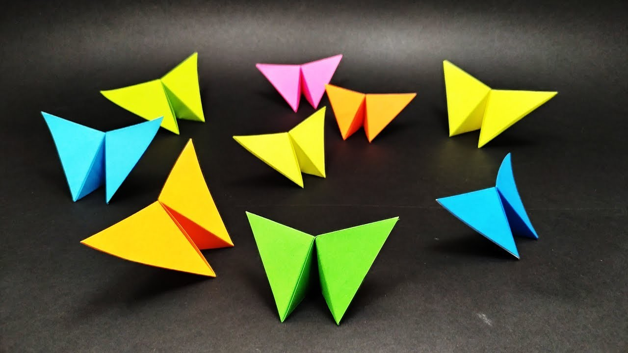Easy Origami: BUTTERFLY in 1 MINUTE - Yakomoga Origami Easy tutorial