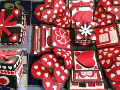Explosion Box for anniversary.birthday|5 layer Explosion Box |Surprise Box|Love box|#anvaicreations