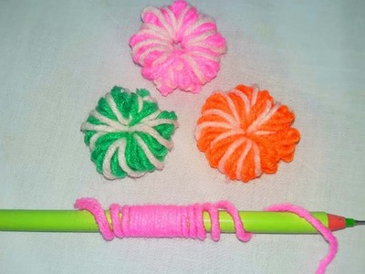 Hand Embroidery Amazing Trick, Easy Flower Embroidery Trick with Pen, Sewing Hack
