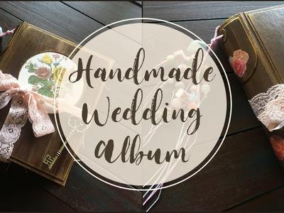 Handmade Wedding Album | Custom Made Vintage Junk Journal | Hand-painted