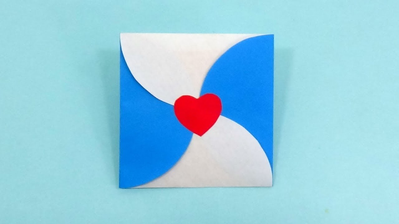 Heart Envelope Making Tutorial for Love Letter   Origami Heart Envelope