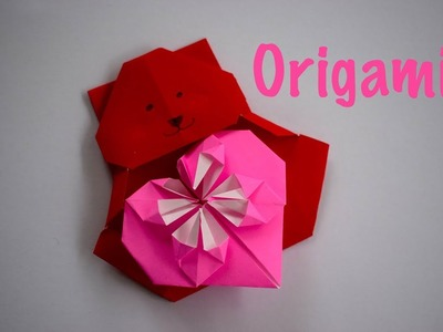 How to Make a Cute Origami Teddy Bear and Heart | Valentine's Day