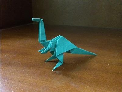 How to make a paper dinosaur easy - origami easy dinosaur