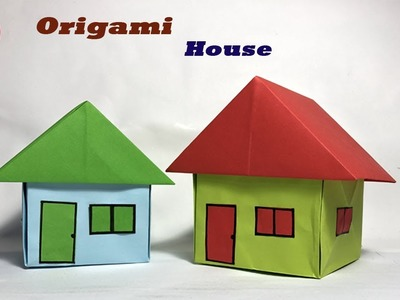How to fold an origami house. Origami for children | 300x400