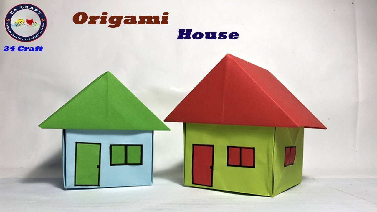 How To Make An Origami House (Very Easy)- Tutorial for kids - Origami - DIY