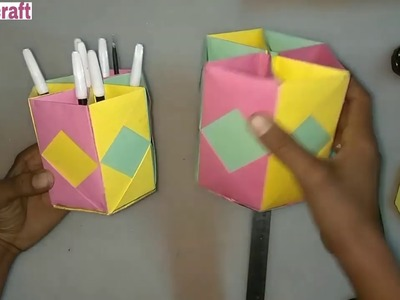 How to Fold an origami pencil cup or holder « Origami :: WonderHowTo | 300x400