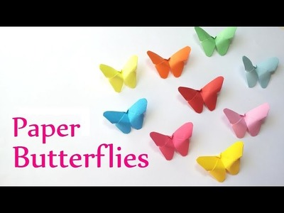 How To Make Origami Butterfly's for Decorat wall | using Color paper ( Creative Ushar )