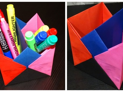 How to make Pen Stand - Pencil Holder Ideas - ORIGAMI