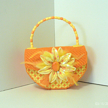 Orange & Yellow Floral Handbag