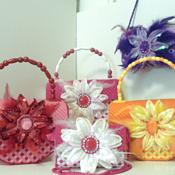 Orange & Yellow Floral Handbag