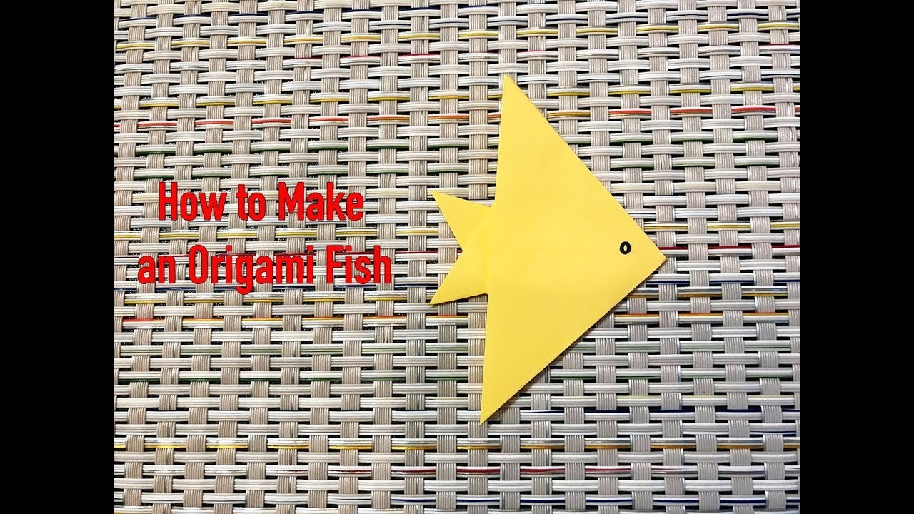 Origami Fish : How to Make an Origami Fish