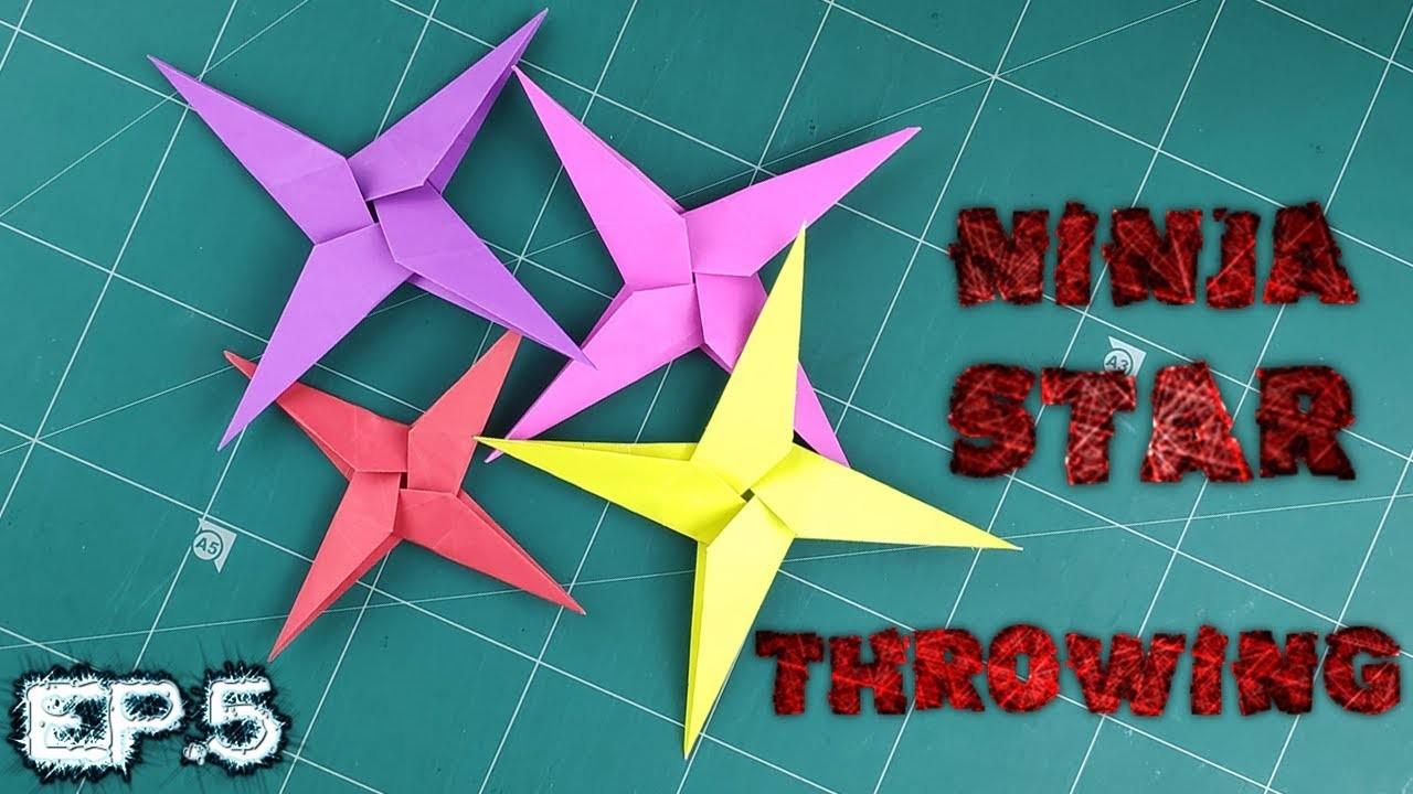 Origami Ninja Star Throwing | How to make a Easy Ninja Star Weapon Tutorial | DIY Paper Making Ep.5