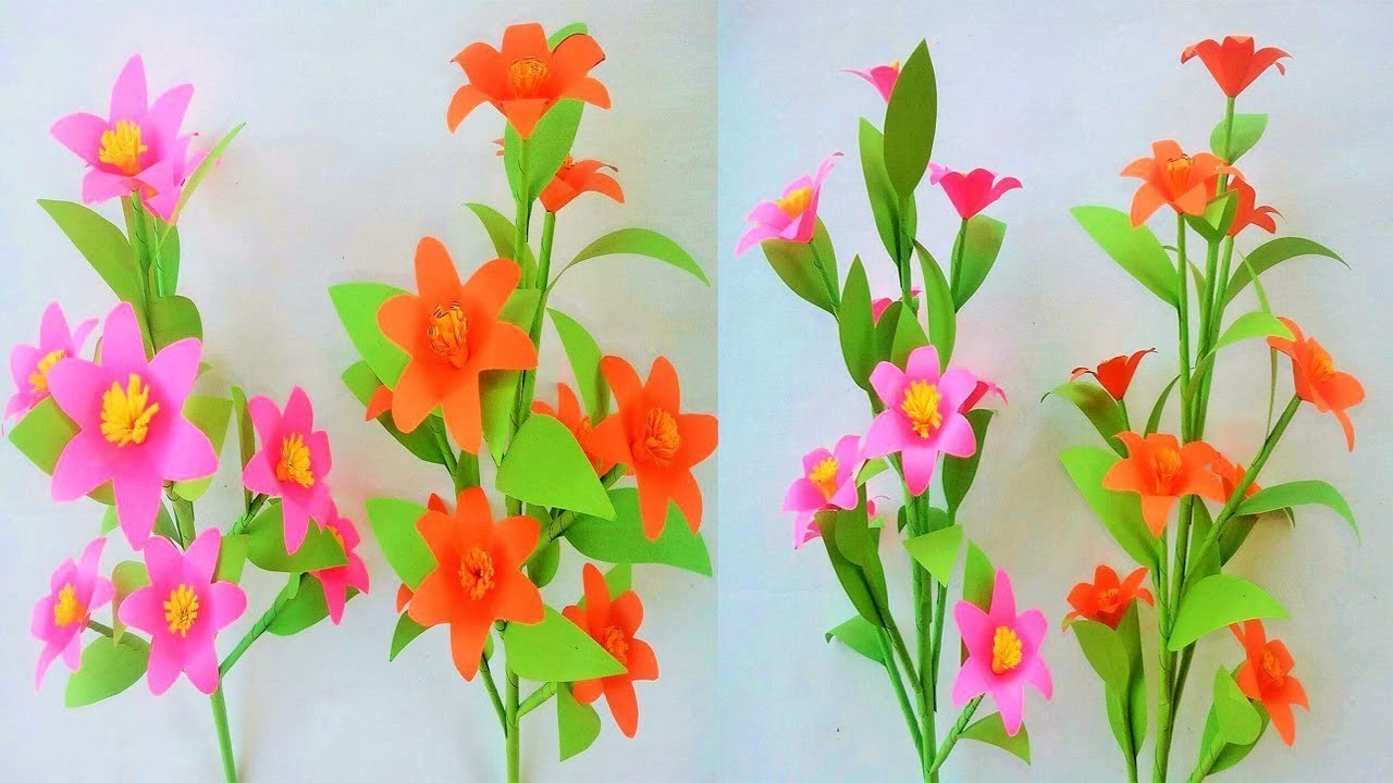 Origami Paper, how to make paper flowers, paper flowers tutorial