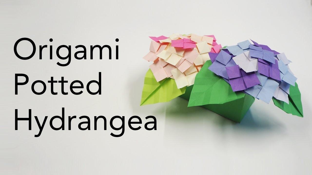 Origami Potted Hydrangea Tutorial