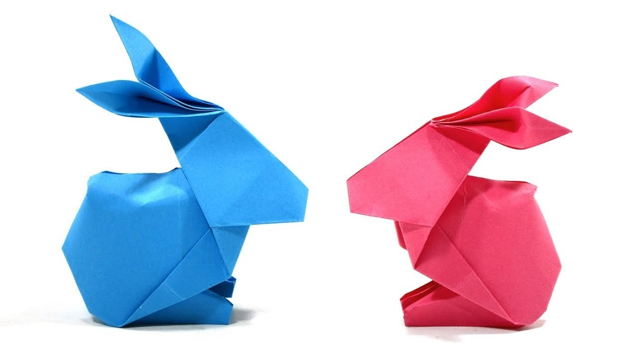 ORIGAMI RABBIT TUTORIAL 折り紙 ウサギ HOW TO MAKE EASY RABBIT CONEJO FACIL