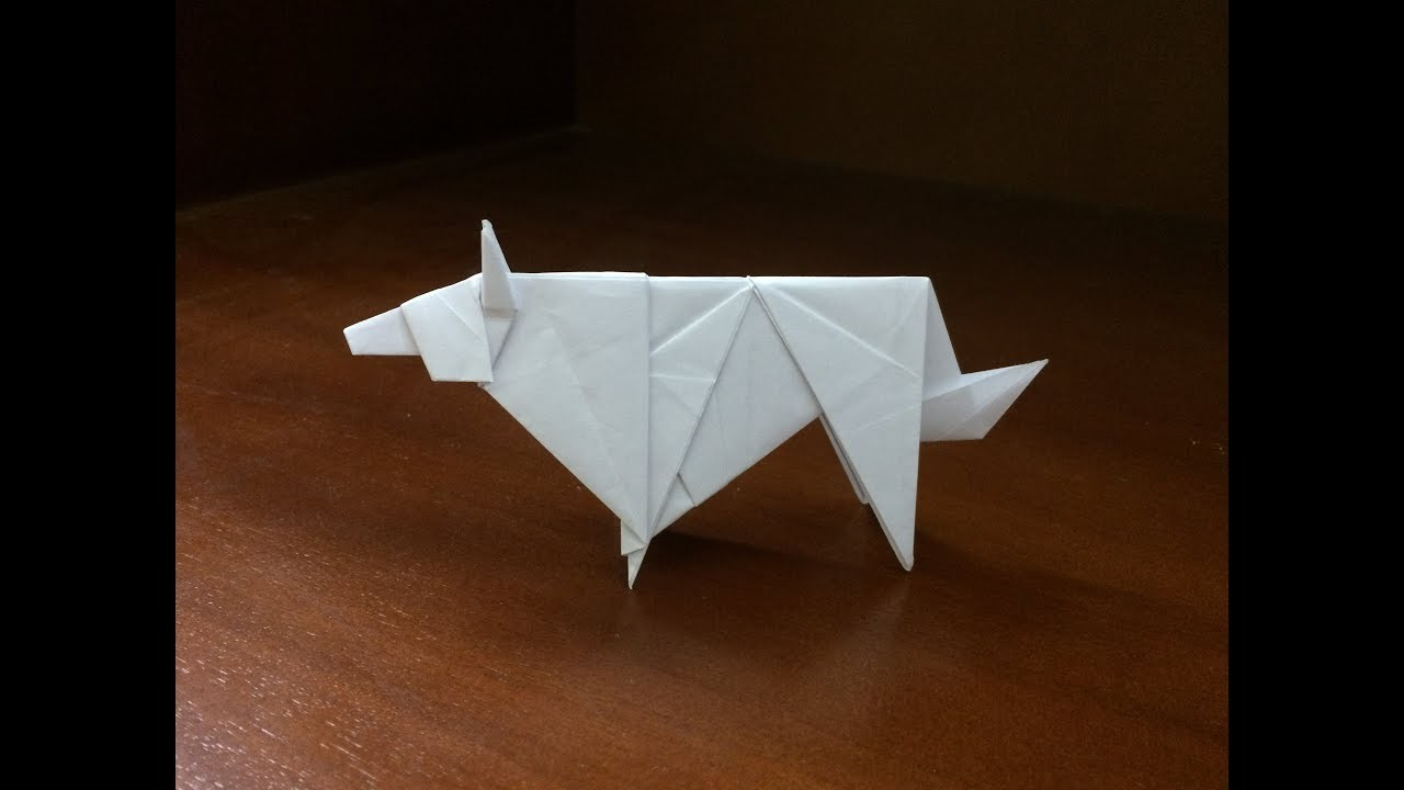Origami Wolf - How to make a paper wolf