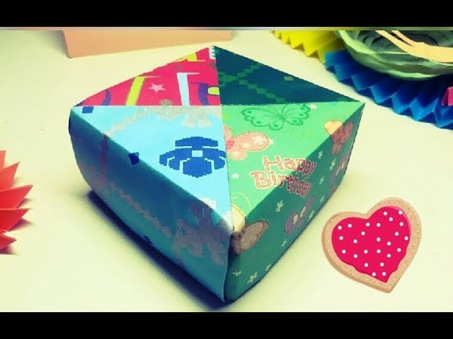 "Paper ""Chocolate Candy"" Gift Box 