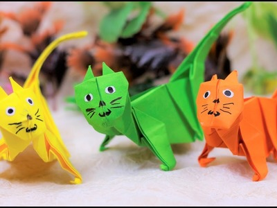 Paper Folding Art (Origami): How to Make  Wild Cat