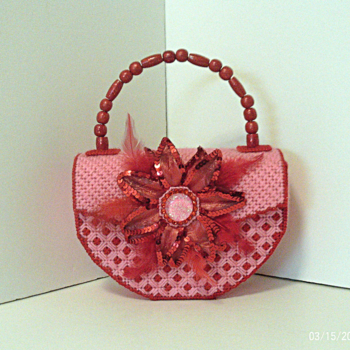 Pink & Cherry Red Floral Handbag
