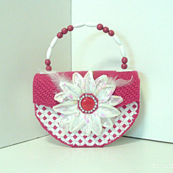 Pink & White Floral Handbag