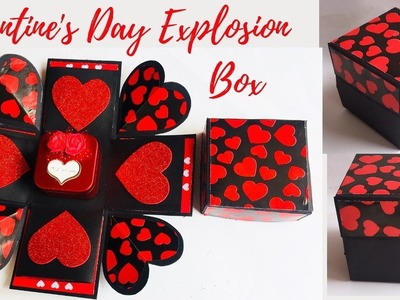 Valentine's Day Explosion Box For Beginners | DIY Valentine's Day Gift | Ep 281