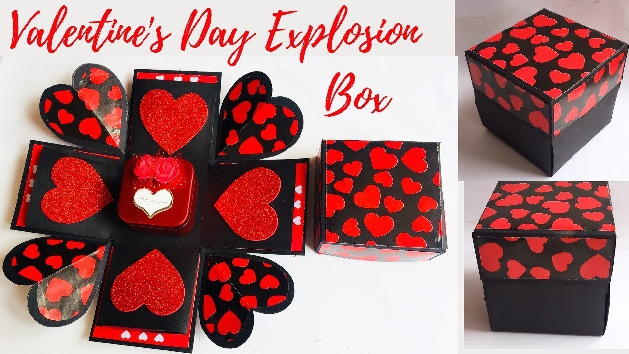 Valentine's Day Explosion Box For Beginners   DIY Valentine's Day Gift   Ep 281