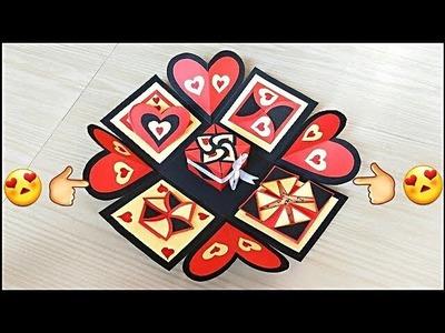 Valentines day gift for boyfriend. DIY valentines day explosion box