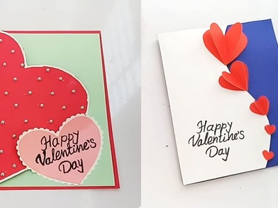 Beautiful Handmade Valentine's Day card idea. 2 Valentines Day Card Ideas That are Quick and Easy |