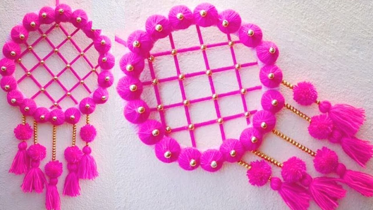 Best Out Of Waste. DIY Wall Hanging From Waste CardBoard And Wool