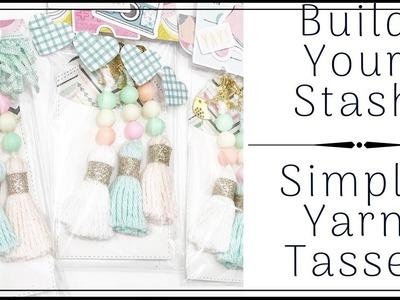 BUILD YOUR STASH   SIMPLE YARN TASSELS   TUTORIAL   ROUND 2   #5
