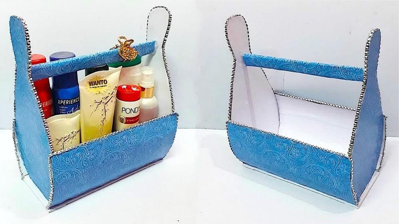 DIY Organizer from waste cardboard at home |Best out of waste Cardboard organizer idea