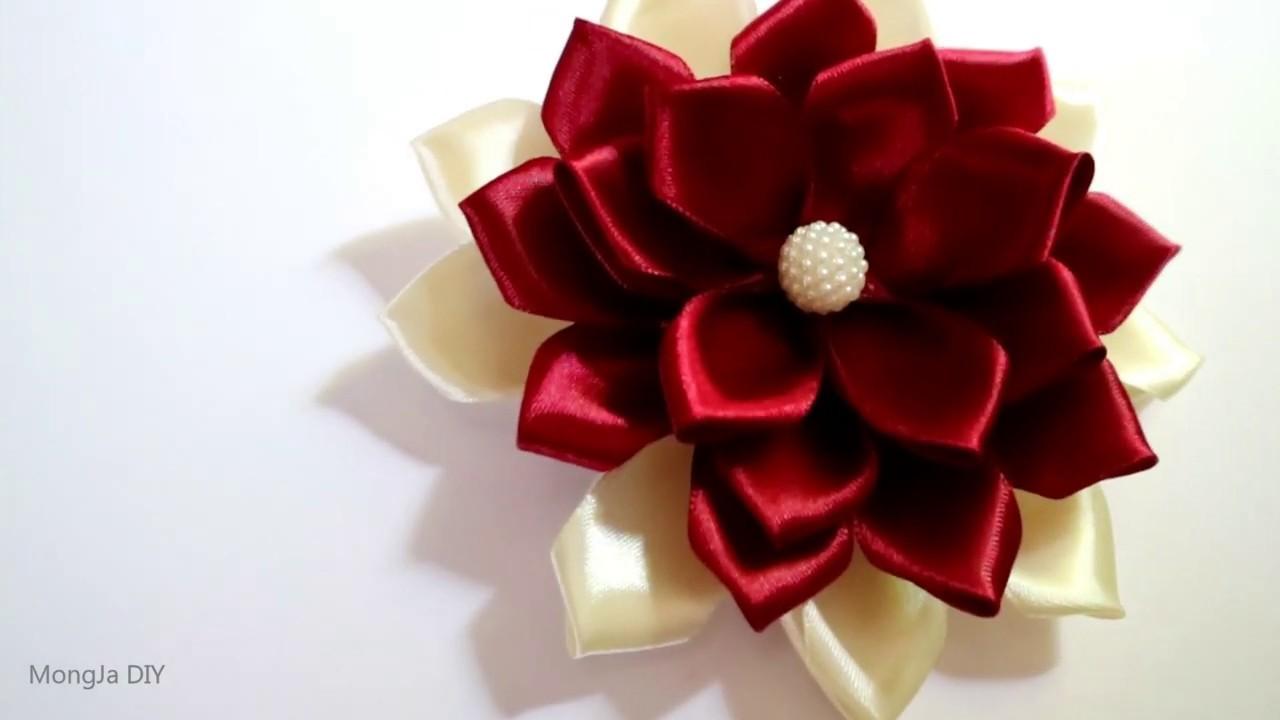 DIY Ribbon Flower, Cara membuat bunga dari Pita Satin
