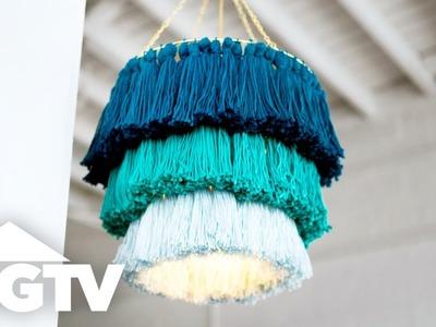 DIY Tassel Chandelier for Under $20 - HGTV