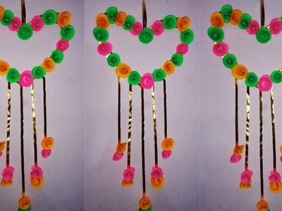 DIY upcoming velentins day special wall hanging.Heart shape wall hanging (22funmedia)