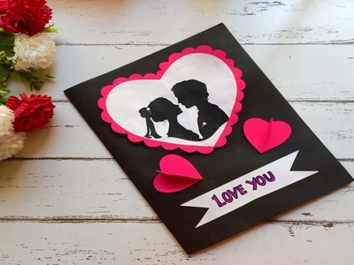 DIY2019 II Hugs  Day greeting card handmade latest designs II valentine's day card simple easy