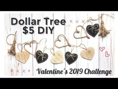 Dollar Tree $5 DIY - Valentine's 2019 Challenge || Rustic Farmhouse Heart Garland