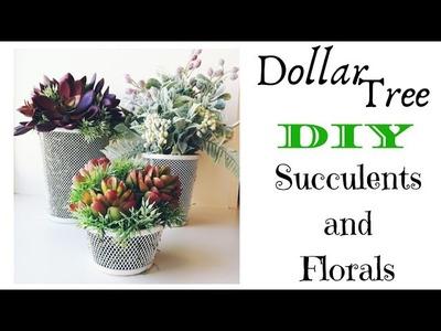 Dollar Tree DIY | Succulents and Florals