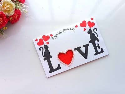 Handmade card for Valentines day   tutorial