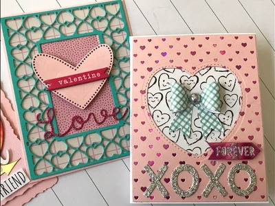 Handmade Valentine's Day Cards 2019 + treat box :)
