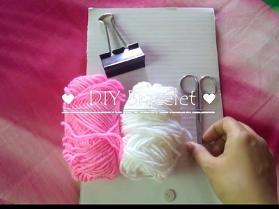 ????????How to make bracelet with woolen thread easily. Tutorial No.4????