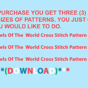 CRAFTS Owls Of The World Cross Stitch Pattern***LOOK****Buyers Can Download Your Pattern As Soon As They Complete The Purchase