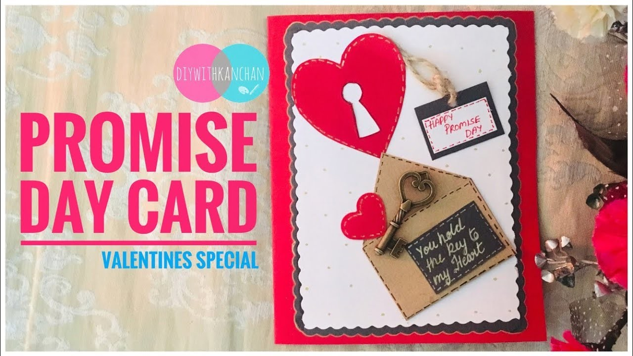 Promise Day Card Making. Valentines Day Card. Easy Handmade Card.Promise Day Card For Best Friend