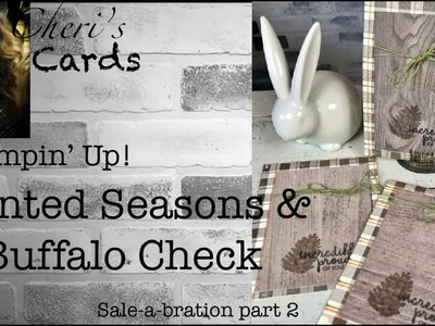 Stampin' Up! Painted Seasons and Buffalo Check Flannel Masculine Wood DSP DIY Card