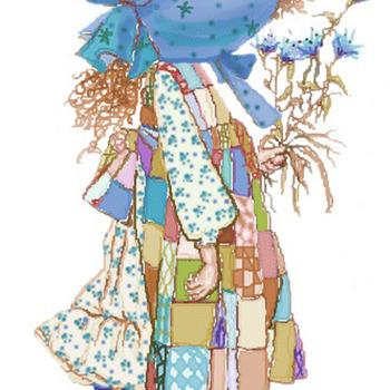 Holly Hobbie Blue Dress Cross-Stitch Pattern***LOOK*** ***INSTANT DOWNLOAD***