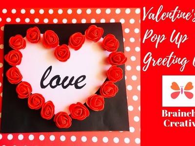 Valentine's Day Handmade Heart Pop Up  Greeting Card   Valentine's Day Gift Ideas   Ep 280