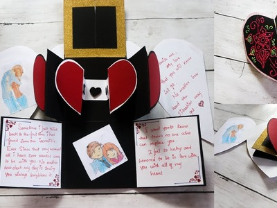 Valentines day cards | easy and best handmade card for valentines day |