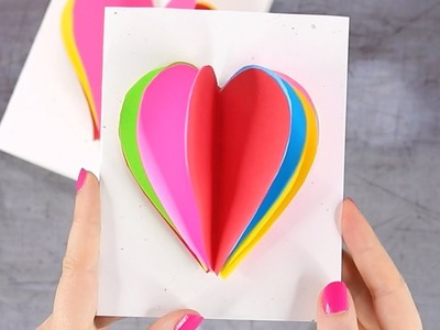 3D Heart Valentines Day Card for Kids