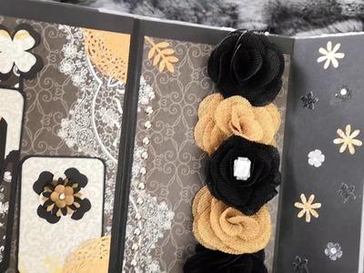 Album scrapbooking  arabesques , papillons ,fleurs.
